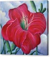 Red Flower Dreams Canvas Print