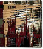 Red Forest Abstract Canvas Print