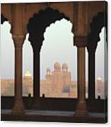 Red Fort From The Jama Masjid Canvas Print