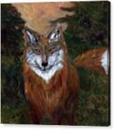 Red Fox - www.jennifer-d-art.com Canvas Print