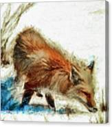 Red Fox Painted Series Canvas Print