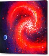 Red Galaxy Canvas Print