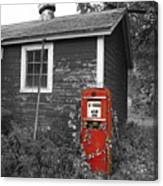 Red Gas Pump Canvas Print