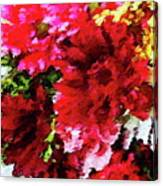 Red Gerbera Daisy Abstract Canvas Print