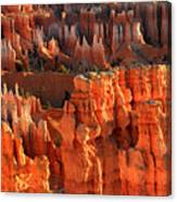 Red Glow On Hoodoos Of Bryce Canyon Canvas Print