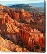 Red Glow On The Hoodoos Of Bryce Canyon Canvas Print