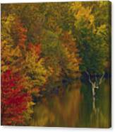 Red Gold And Green Canvas Print