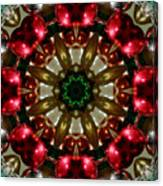 Red Gold Green Kaleidoscope 1 Canvas Print