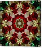 Red Gold Green Kaleidoscope 2 Canvas Print