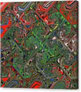 Red Green Blue Compressed Canvas Print