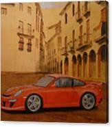 Red Gt3 Porsche Canvas Print