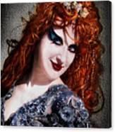 Red Hair, Gothic Mood. Model Sofia Metal Queen Canvas Print