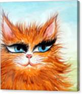 Red-haired Sofia The Cat Canvas Print