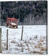 Red Hay Wagon Canvas Print