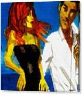 Red Head Looking For Mr Right  Canvas Print