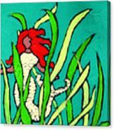 Red Head Mermaid Canvas Print