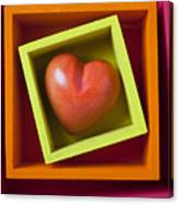 Red Heart In Box Canvas Print