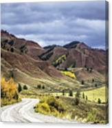 Red Hills Autumn Color Canvas Print