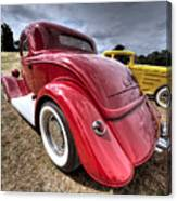 Red Hot Rod - 1930s Ford Coupe Canvas Print