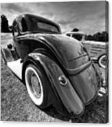 Red Hot Rod In Black And White Canvas Print