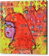 Red Hot Summer Girl Canvas Print