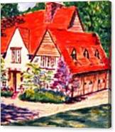 Red House In Clayton Canvas Print