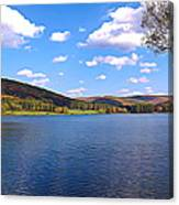 Red House Lake Allegany State Park Expressionistic Effect Canvas Print
