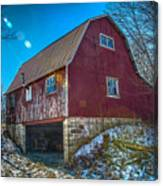 Red Indiana Barn Canvas Print