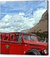 Red Jammer At Logan Pass Canvas Print