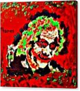 Red Joker Canvas Print