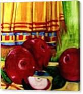 Red Juicy Apples Canvas Print