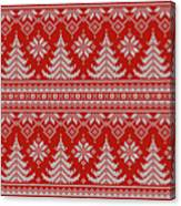 Red Knitted Winter Sweater Canvas Print