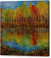Red Lake. Canvas Print