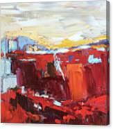 Red Landscape Canvas Print