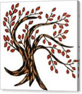 Red-leafed Tree Canvas Print