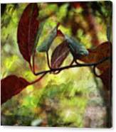 Red Leaves With Texture Canvas Print