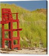 Red Lifeguard Seat Canvas Print