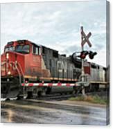 Red Locomotive Canvas Print