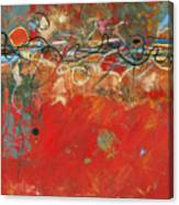 Red Meander Canvas Print