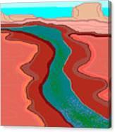 Red Mesa Canvas Print