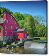 Red Mill Of Clinton New Jersey Canvas Print