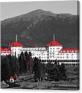 Red Mount Washington Resort Canvas Print
