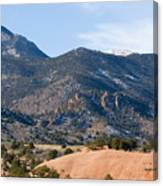 Red Mountain And Pikes Peak Canvas Print