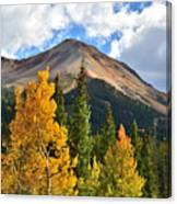 Red Mountain Fall Colors Canvas Print