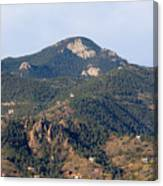Red Mountain In The Foothills Of Pikes Peak Colorado Canvas Print