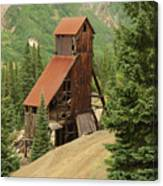 Red Mountain Mine. Canvas Print