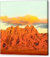 Red Mountain Sunset Organs Canvas Print