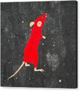 Red Mouse Canvas Print