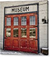 Red Museum Door Canvas Print