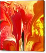 Red N Yellow Flowers 5 Canvas Print